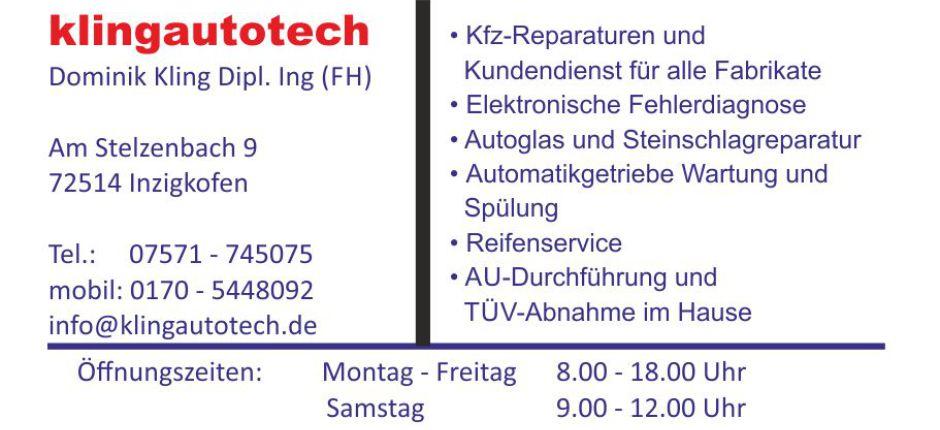 Klingautotech Web Visitenkarte